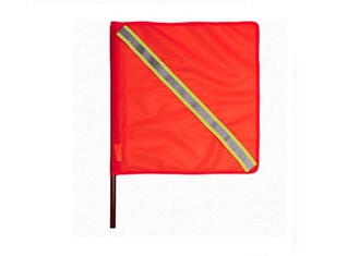 China Orange Verkehrssicherheits-Flagge PVC-Gewebe im Freien 46cm mit reflektierendem Band fournisseur